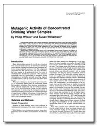 Mutagenic Activity of Concentrated Drink... by Williamson, Susan