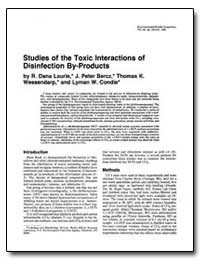 Studies of the Toxic Interactions of Dis... by Condie, Lyman W.