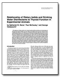 Relationship of Dietary Iodide and Drink... by Revis, Nathaniel W.