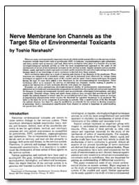 Nerve Membrane Ion Channels as the Targe... by Narahash, Toshio