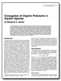 Conjugation of Organic Pollutants in Aqu... by James, Margaret O.