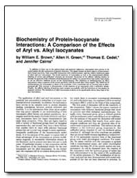 Biochemistry of Protein-Isocyanate Inter... by Brown, William E.