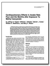 Cardiopulmonary Effects in Awake Rats Fo... by Tepper, Jeffrey S.