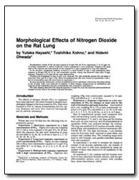 Morphological Effects of Nitrogen Dioxid... by Hayash, Yutaka