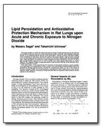 Lipid Peroxidation and Antioxidative Pro... by Sagai, Masaru