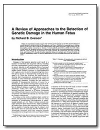 A Review of Approaches to the Detection ... by Everson, Richard B.