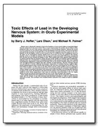 Toxic Effects of Lead in the Developing ... by Hoffer, Barry J.
