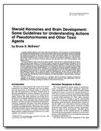 Steroid Hormones and Brain Development :... by Mcewen, Bruce S.