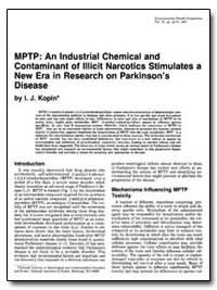 Mptp : An Industrial Chemical and Contam... by Kopin, I. J.