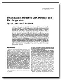Inflammation, Oxidative Dna Damage, And ... by Adams, D. O.