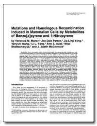Mutations and Homologous Recombination I... by Maher, Veronica M.