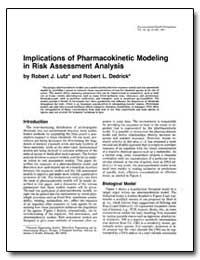 Implications of Pharmacokinetic Modeling... by Dedrick, Robert L.