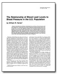 The Relationship of Blood Lead Levels to... by Harlan, William R.