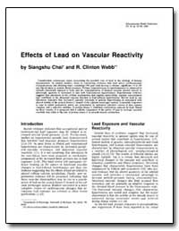 Effects of Lead on Vascular Reactivity by Chai, Siangshu