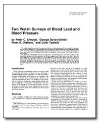 Two Welsh Surveys of Blood Lead and Bloo... by Elwood, Peter C.