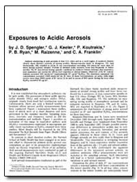 Exposures to Acidic Aerosols by Spengler, John D.