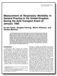 Measurement of Respiratory Morbidity in ... by Ayres, Jon