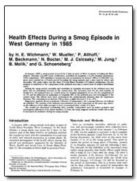 Health Effects during a Smog Episode in ... by Wichmann, H. E.