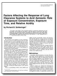 Factors Affecting the Response of Lung C... by Schlesinger, Richard B.