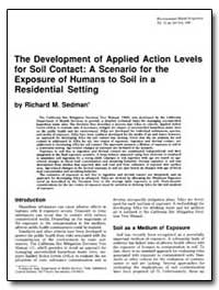 The Development of Applied Action Levels... by Sedman, Richard M.