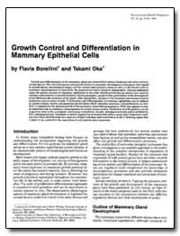 Growth Control and Differentiation in Ma... by Borellini, Flavia