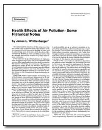 Health Effects of Air Pollution : Some H... by Whittenberger, James L.
