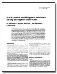 Sun Exposure and Malignant Melanoma Amon... by Moseson, Miriam