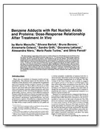 Benzene Adducts with Rat Nucleic Acids a... by Bartoli, Silvana