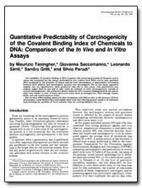 Quantitative Predictability of Carcinoge... by Taningher, Maurizio