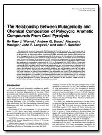The Relationship between Mutagenicity an... by Wornat, Mary J.