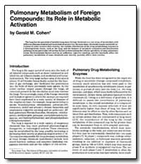 Pulmonary Metabolism of Foreign Compound... by Cohen, Gerald M.