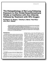 The Histopathology of Rat Lung Following... by Maws, Timothy C.