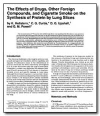 The Effects of Drugs, Other Foreign Comp... by Curtis, C. G.