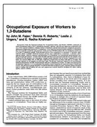 Occupational Exposure of Workers to 1, 3... by Fajen, John M.