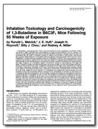 Inhalation Toxicology and Carcinogenicit... by Melnick, Ronald L.