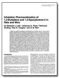 Inhalation Pharmacokinetics of 1, 3=Buta... by Filser, Johannes G.