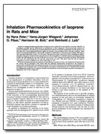 Inhalation Pharmacokinetics of Isoprene ... by Peter, Hans