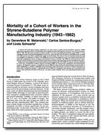 Mortality of a Cohort of Workers in the ... by Matanoski, Genevieve M.
