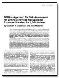 Osha's Approach to Risk Assessment for S... by Grossman, Elizabeth A.