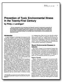 Prevention of Toxic Environmental Illnes... by Landrigan, Philip J.
