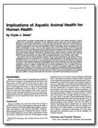 Implications of Aquatic Animal Health fo... by Dawe, Clyde J.