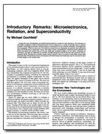 Introductory Remarks : Microelectronics,... by Gochfeld, Michael