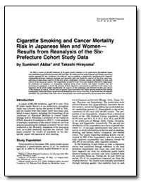 Cigarette Smoking and Cancer Mortality R... by Akiba, Suminori
