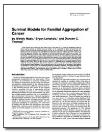 Survival Models for Familial Aggregation... by Mack, Wendy