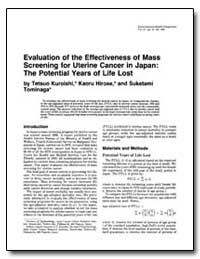 Evaluation of the Effectiveness of Mass ... by Kuroishi, Tetsuo