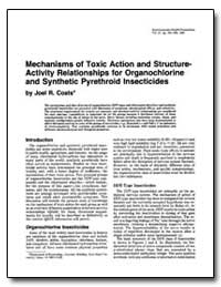 Mechanisms of Toxic Action and Structure... by Coats, Joel R.