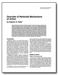 Overview of Herbicide !Mechanisms of Act... by Duke, Stephen O.