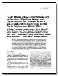 Health Effects of Environmental Exposure... by Lauwerys, Robert R.