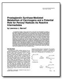 Prostaglandin Synthase-Mediated Etabolis... by Marnett, Lawrence J.