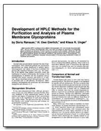 Development of Hplc Methods for the Puri... by Renauer, Doris